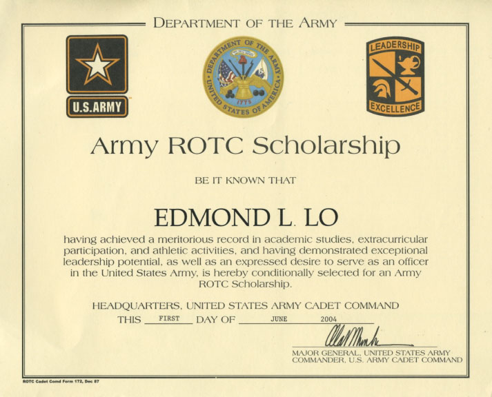 army rotc scholarship application essay